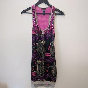 Custo Barcelona festival tunic dress silk sequin